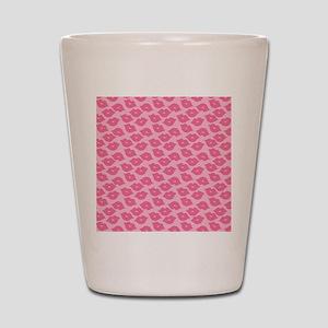 Girly Pink Lips Shot Glass