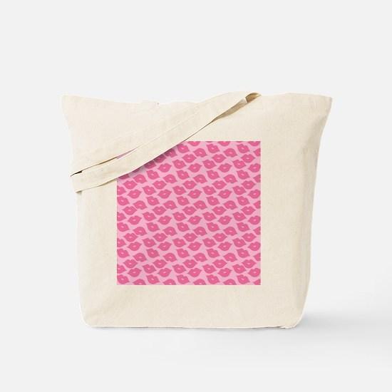 Girly Pink Lips Tote Bag