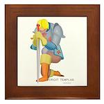The Knight Templar kneeling Framed Tile