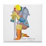 The Knight Templar kneeling Tile Coaster