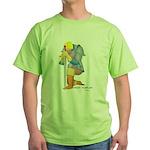 The Knight Templar kneeling Green T-Shirt