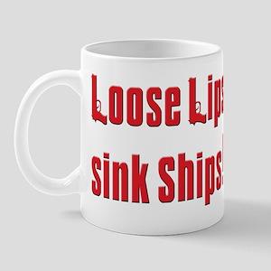 Soprano Loose lips sink ship Mug