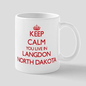 Keep calm you live in Langdon North Dakota Mugs