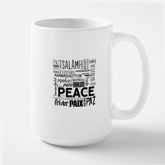 Peace Word Cloud Large Mug