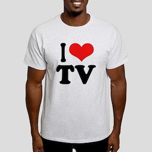 I Love TV Light T-Shirt