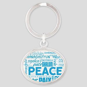 Peace Word Cloud Keychains