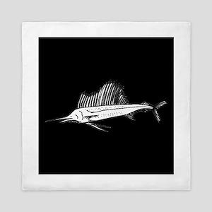 Sail Fish Silhouette Queen Duvet