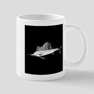 Sail Fish Silhouette Mugs