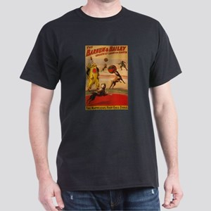 BARNUM AND BAILEY DOG dark t-shirt