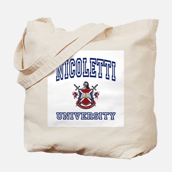 NICOLETTI University Tote Bag