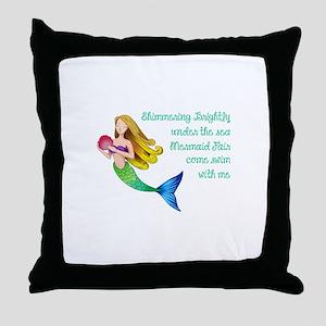 MERMAID FAIR Throw Pillow