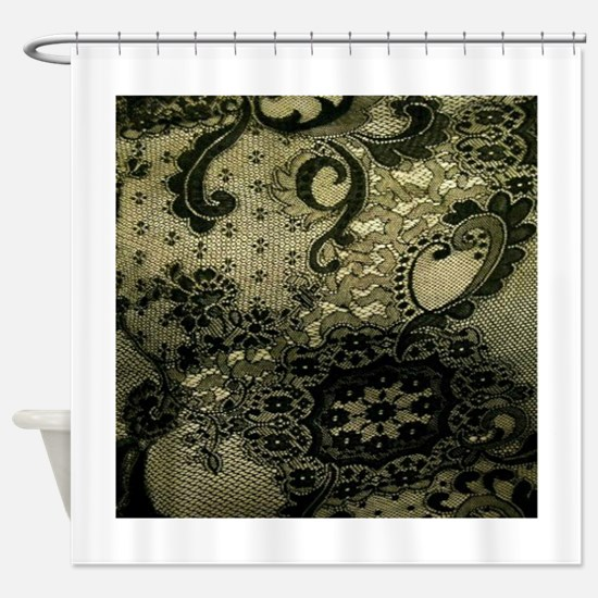 Funny Lace Shower Curtain