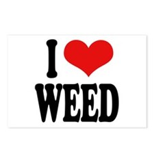 I Love Weed Postcards (Package of 8)