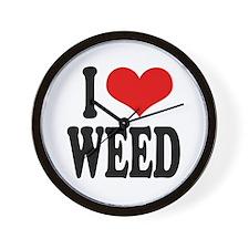 I Love Weed Wall Clock