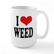 I Love Weed Large Mug