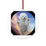 Happy Dog Ornament (Round)