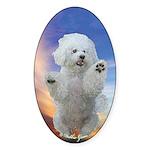 Happy Dog Oval Sticker