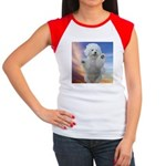 Happy Dog Women's Cap Sleeve T-Shirt