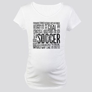 Soccer Word Cloud Maternity T-Shirt