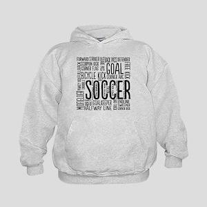 Soccer Word Cloud Kids Hoodie