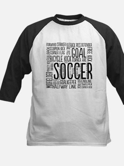 Soccer Word Cloud Baseball Jersey