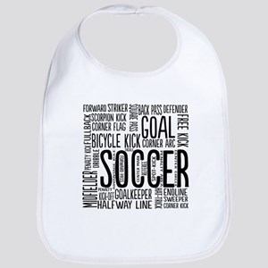 Soccer Word Cloud Bib