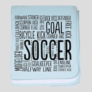Soccer Word Cloud baby blanket