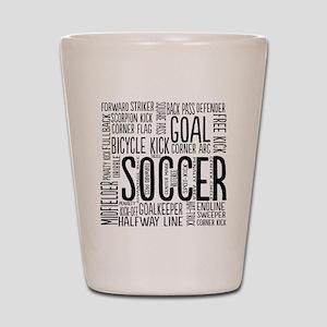 Soccer Word Cloud Shot Glass