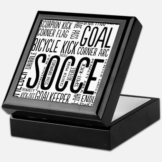Soccer Word Cloud Keepsake Box