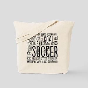 Soccer Word Cloud Tote Bag