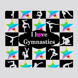 GYMNASTICS LOVE Throw Blanket