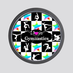 GYMNASTICS LOVE Wall Clock