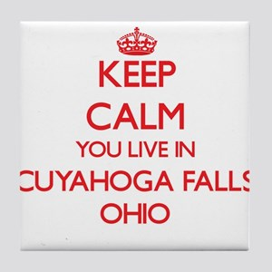 Keep calm you live in Cuyahoga Falls Tile Coaster