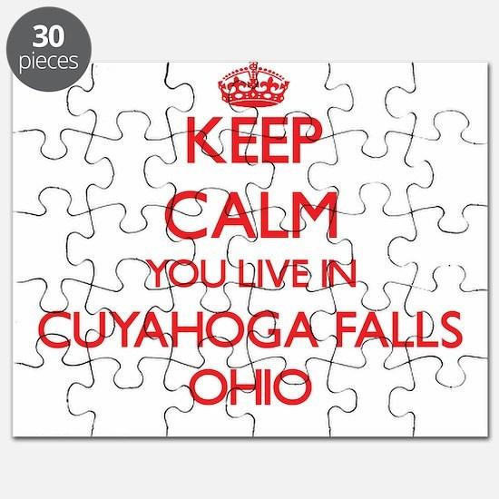 Keep calm you live in Cuyahoga Falls Ohio Puzzle