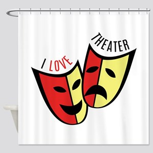 I Love Theater Shower Curtain
