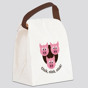 Oink,Oink,Oink! Canvas Lunch Bag