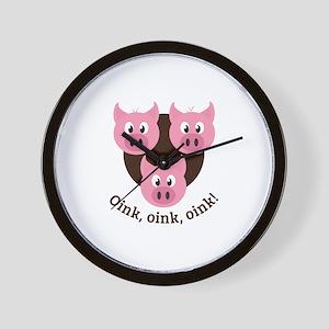 Oink,Oink,Oink! Wall Clock