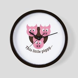 This Little Piggy... Wall Clock