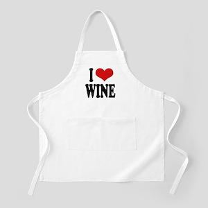 I Love Wine BBQ Apron