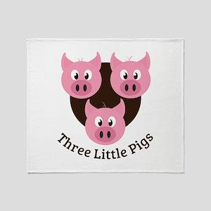 Three Little Pigs Throw Blanket