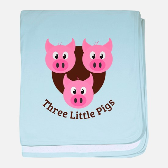 Three Little Pigs baby blanket