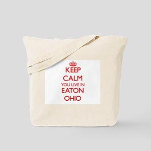Keep calm you live in Eaton Ohio Tote Bag