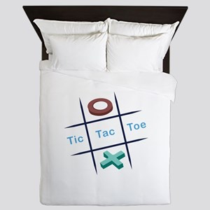 Tic Tac Toe Queen Duvet