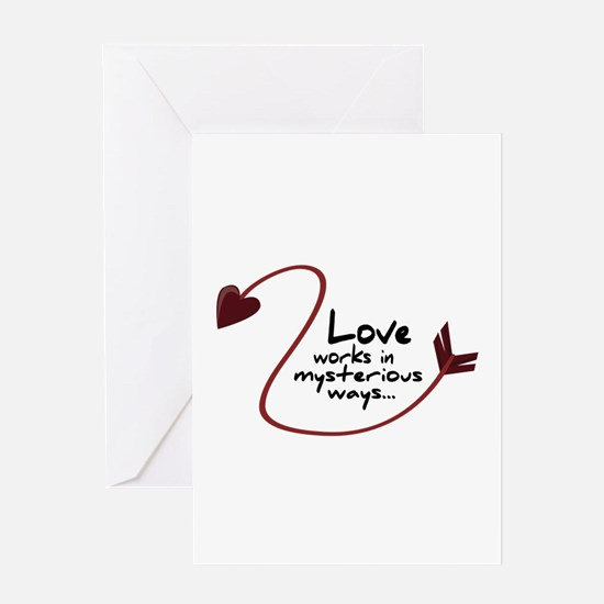 Mysterious ways Greeting Cards
