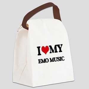 I Love My EMO MUSIC Canvas Lunch Bag