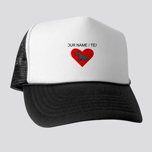 Custom Schnauzer Heart Trucker Hat