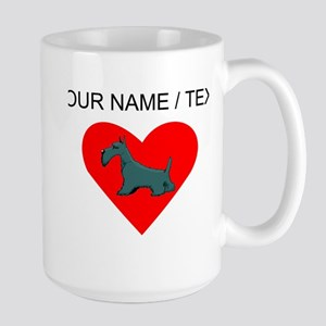 Custom Schnauzer Heart Mugs