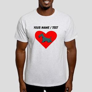 Custom Schnauzer Heart T-Shirt