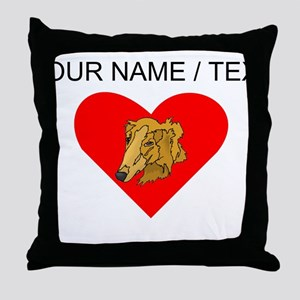 Custom Goldendoodle Heart Throw Pillow