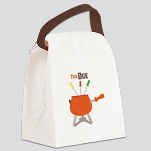Fun Due Canvas Lunch Bag
